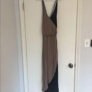 :mossimo: black and tan dress